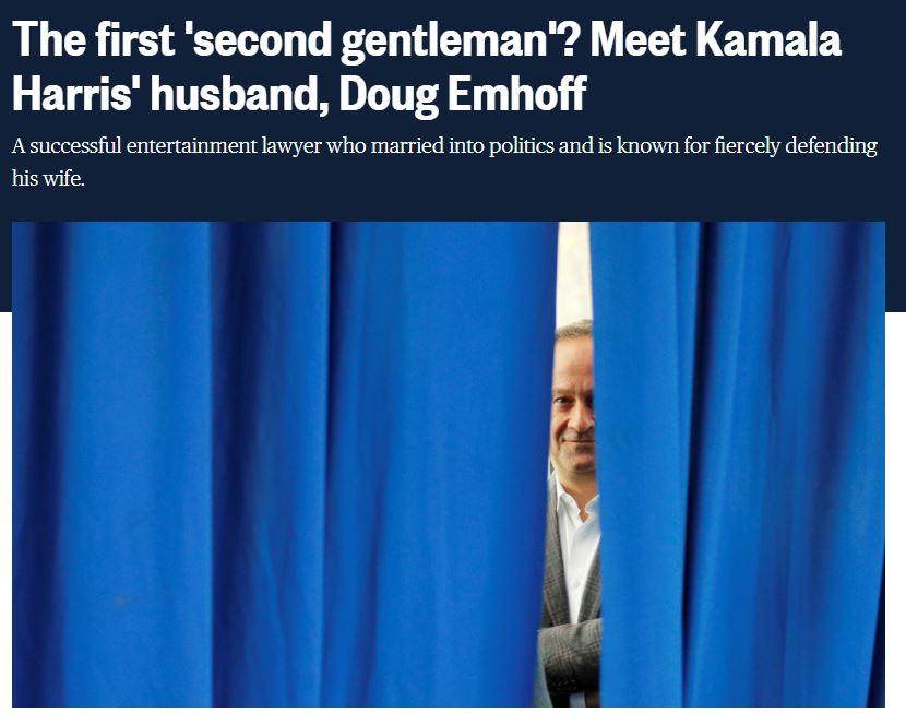 2020 08 23 17 43 58 The first second gentleman Meet Kamala Harris husband Doug Emhoff Symbolic Pics of the Month 08/20