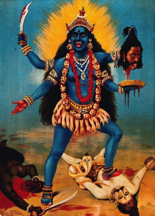 "Kali by Raja Ravi Varma e1599585555606 The True Disturbing Meaning of ""WAP"" by Cardi B"