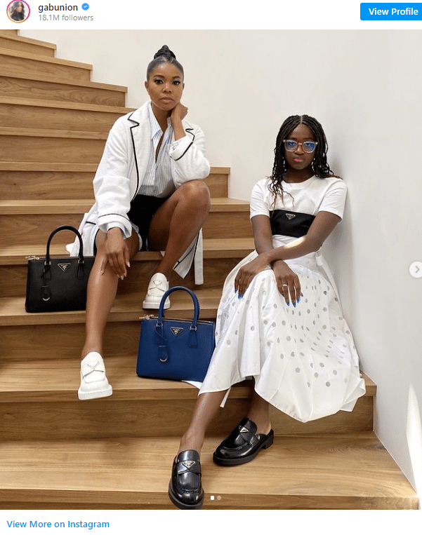 2021 06 07 14 34 16 Gabrielle Union Coordinates with Her Stepdaughter Zaya Wade in Head to Toe Pra Symbolic Pics of the Month 06/21