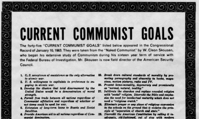 """currentcommunistgoals The 1963 List """"Current Communist Goals"""" is Becoming a Reality Right Before Our Eyes"""