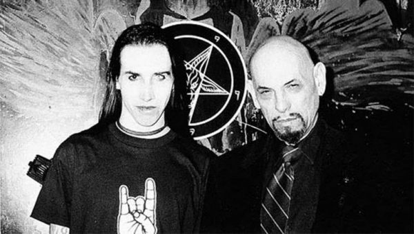 """marilyn manson anton lavey 768x435 1576860619 e1630519884232 The Occult Meaning of Kanye West's """"Donda"""""""